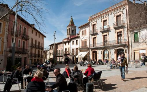 La Plaça Major de Viladrau