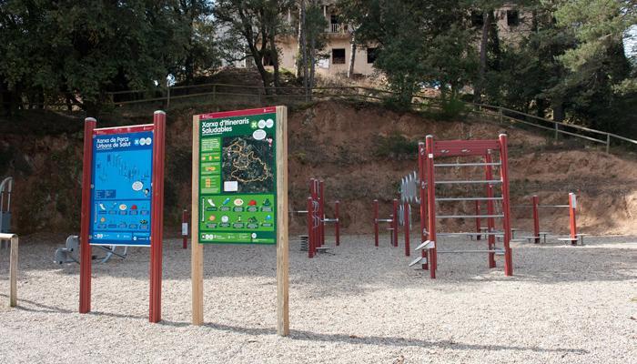Viladrau Sessió dinamització parc urbà de salut i xarxa itineraris saludables 2019