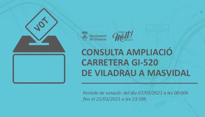 Consulta ampliació carretera GI520 de Viladrau a Masvidal