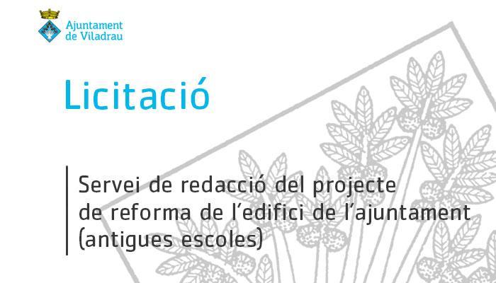 Viladrau - Licitació pel servei de redacció del projecte de reforma de l