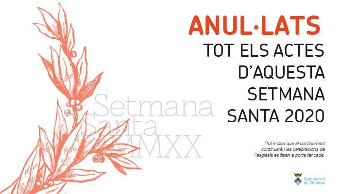 Viladrau Anul·lats actes Setmana Santa 2020