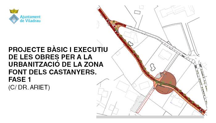 Viladrau Projecte per a la urbanització de la zona Font dels Castanyers (C/ Dr. Ariet)