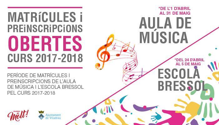 Viladrau Matrícules i preinscripcions obertes pel curs 2017-2018