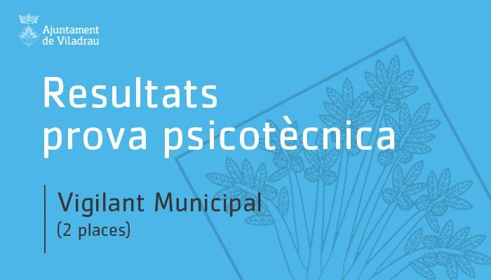 Ajuntament de Viladrau - Resultats prova prsicotècnica per dues places de vigilants municipals