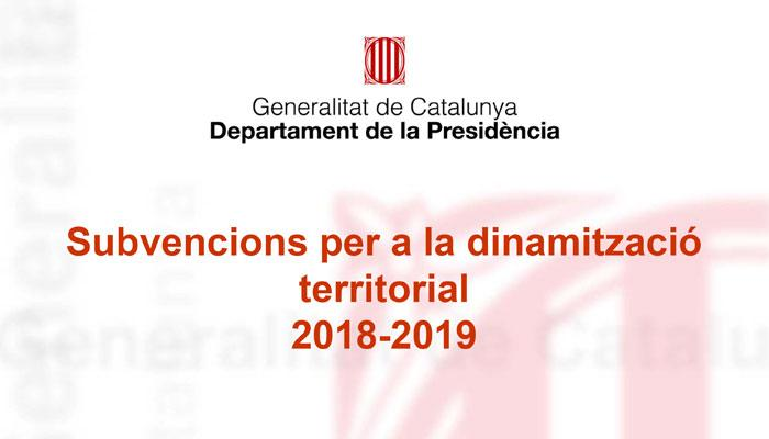 L'Ajuntament de Viladrau ha resultat beneficiària de la subvenció per a la dinamització territorial per als anys 2018 i 2019