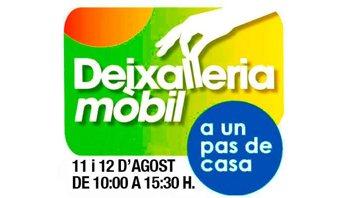 Viladrau Deixalleria Mòbil. Dimarts 11 i dimecres 12 d'agost de 2020
