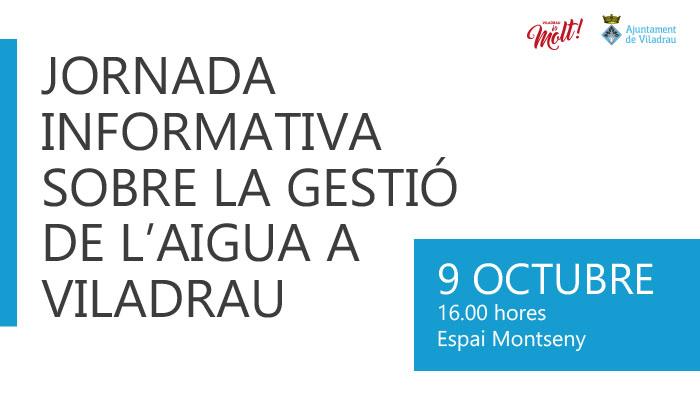 Jornada informativa sobre la Gestió de l'Aigua a Viladrau
