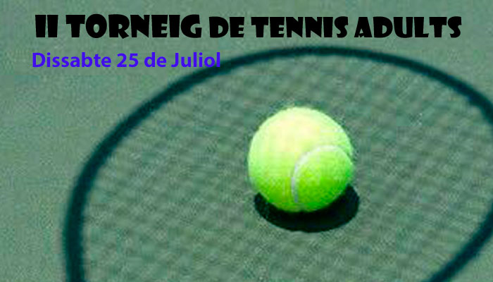 Viladrau II Torneig de tennis adults