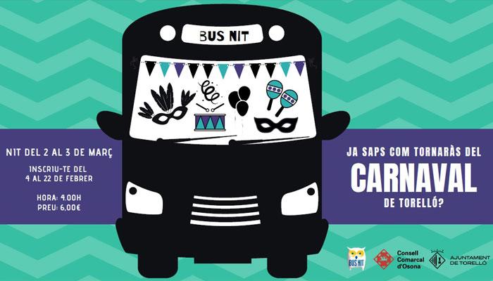 Viladrau Bus Nit Carnaval de Torelló 2019