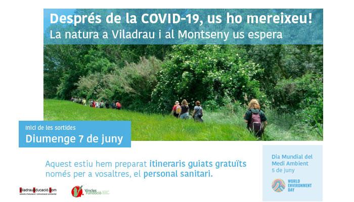 Viladrau Itineraris guiats gratuïts al personal sanitari