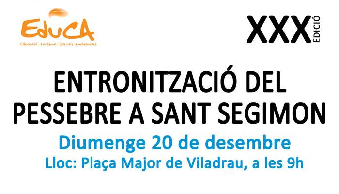Viladrau XXX Entronització del pessebre de Sant Segimon