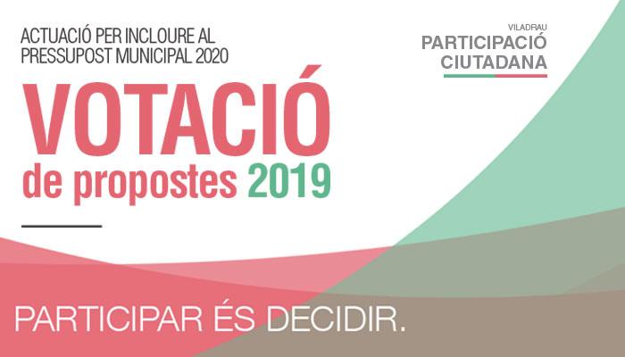 Viladrau Votació de les propostes 2019