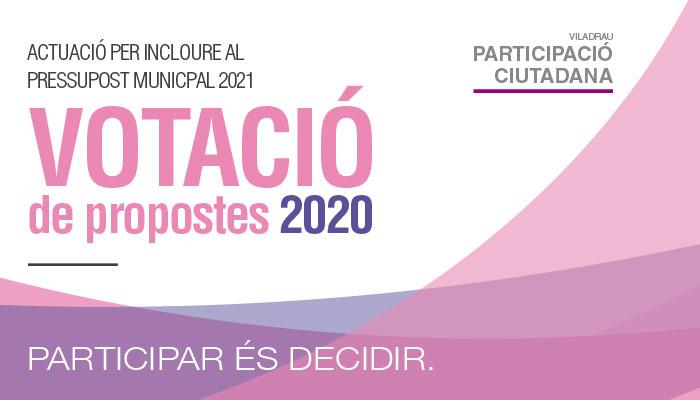 Viladrau Votació de les propostes 2020