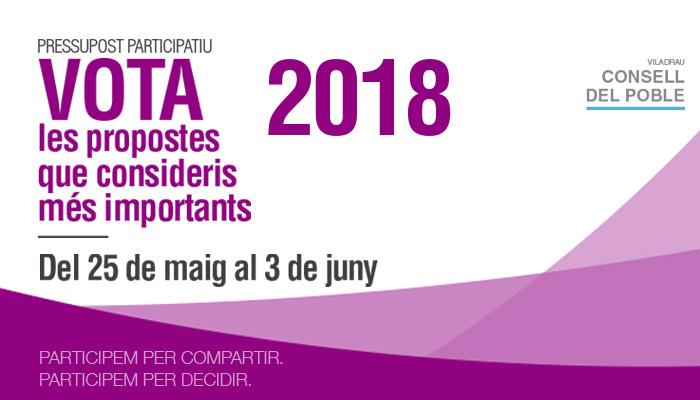 Viladrau Votació propostes 2018